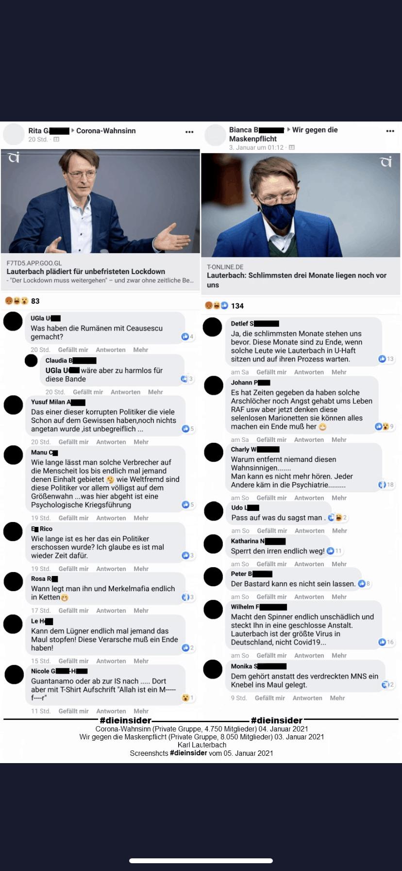 Stopp die Diskussion auf Facebook