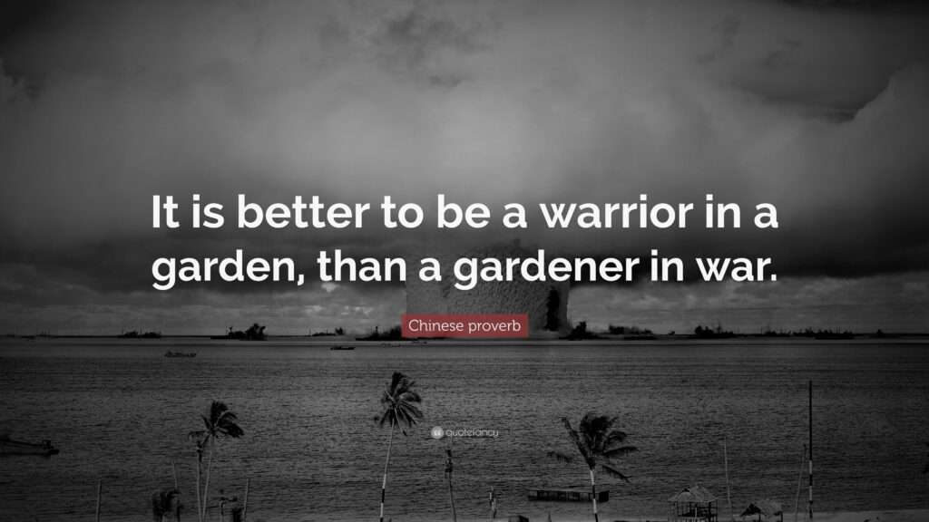 der Krieger im Garten